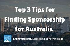 The top three tips for finding job sponsorship for Australia from Sponsored Jobs in Australia Owner and Recruiter Nadine Meyers.
