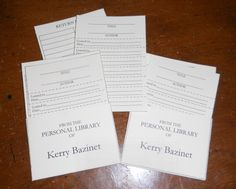 Personal library cards