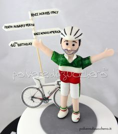 Torta 40° compleanno per un ciclista   40th birthday cake for a cyclist
