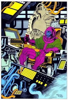 Kang the Conqueror pin-up page by Mike Mignola from Marvel Fanfare (Sep Marvel Villains, Marvel Comics Art, Avengers Comics, Fun Comics, Comic Book Artists, Comic Book Characters, Comic Artist, Comic Books Art, Marvel Characters