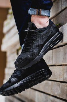 Nike Air Max 1 Ultra Flyknit Blackout #sneakernews #Sneakers #StreetStyle #Kicks
