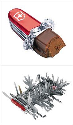 Il coltellino svizzero, metafora delle diverse scelte di vita e multiutensile di culto, anche in versione informatica.