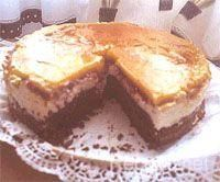 Tarta de chocolate, yema y frambuesa, Receta de Cocina - Postres - RecetasNet