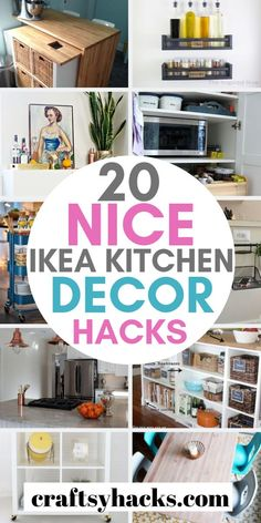 Try this new ikea hacks and transform kitchen decor. These kitchen ikea projects are beautiful and tasteful. Ikea Furniture Hacks, Diy Outdoor Furniture, Diy Furniture Projects, Furniture Makeover, Ikea Hacks, Pantry Shelving Units, Kitchen Hacks, Kitchen Decor, Small Kitchen Makeovers
