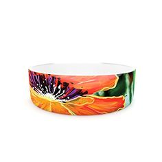 Kess InHouse Christen Treat Through the Looking Glass Pet Bowl 475Inch Orange Green -- Click on the image for additional details.