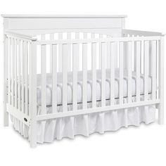 Graco - Lauren 4-in-1 Convertible Fixed-Side Classic Crib, White. Purchased from Once Upon A Child.