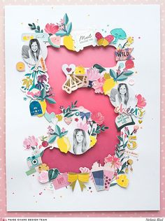 Every yearStefanie Riedmakes a layout for her sweet daughter's birthday which is coming up soon so here is her age five edition using Pink PaisleePick-Me-Up!My daughter will be 6 years old next wee