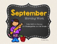 Welcome back!  Is the excitement of fresh markers and glue upon you?!  Well, I hope this set starts your year off right!Morning work, homework, or review!{Common Core Aligned!}This fun pack contains 20 pages of daily morning work, themed around the month of September.Set up in 4 sets of 5 pages, students become familiar with the activities each week and can easily become independent workers.Skills included:Circling number of the monthSimple additionCount around the room with…