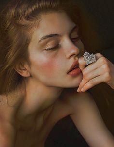 "Kate Bogucharskaia by Billy Kidd / ""Diamonds and Girls"" / Obsession Magazine, December 2013 Poses Modelo, Kate Bogucharskaia, Portrait Photography, Fashion Photography, Diamond Photography, Jewelry Photography, Glamour Photography, Lifestyle Photography, White Photography"
