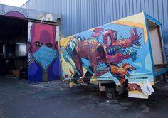 Le street-art coloré d'Aryz / PART.2 !