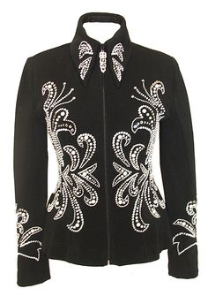 Black Jacket with Pearl Detail :: Horse Show Riding Jackets :: Show Me Again