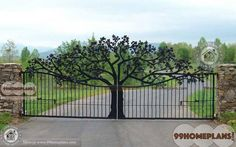 Attractive and Impressive Main Gate Design Iron Ideas & Create your Dream Home Gates with Latest Modern Style Collections, Simple Traditional Model Gates Modern Iron Gate Designs, Simple Gate Designs, Modern Gates, Home Gate Design, Main Gate Design, House Design, Tor Design, Gate House, Product Design