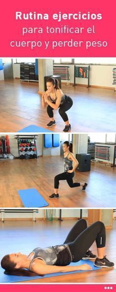 Rutina ejercicios para tonificar el cuerpo y perder peso. ¡Sólo 20 minutos! #rutina #ejercicios #tonificar #perderpeso #adelgazar #cuerpo #casa Pilates Video, Gym Equipment, Health Fitness, Exercise, Workout, Tips, Sports, Goals, Shape