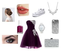 """"""""""" by emmaclarke25 ❤ liked on Polyvore featuring Converse, Givenchy, Lane Bryant, Edie Parker, Essie and Topshop"""