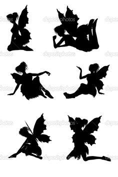 Fairy Silhouette Clip Art | Fairy silhouettes
