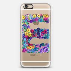 e letter floral phone case + $10 off your first order when you use the code: QBADQW on our collaboration with @Casetify, we love the range of clear cases available for lots of different phone cases not just iphones! #iphonecase #clearcase #casetify #amysia