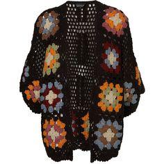 Crochet Blanket Flower Kimono, found on polyvore.com