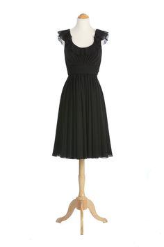 Really like this one! Ruffled Scoopneck Chiffon Dress by Wtoo // shopjoielle.com