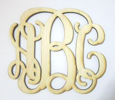 24 inch Unpainted Unfinished wood monogram wooden by TheLaserShop, $21.50
