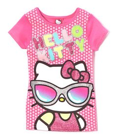 This Pink Shades Hello Kitty Tee - Girls by Hello Kitty is perfect! #zulilyfinds