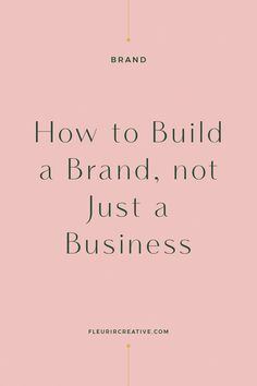 The differences between a business and a brand. The initial steps that you can take to build a brand, not just a business. Building a brand is not something that happens overnight. It's something that evolves over time and will continue to. Branding Your Business, Business Advice, Business Entrepreneur, Creative Business, Online Business, Entrepreneur Ideas, Women In Business, Business Education, Business School