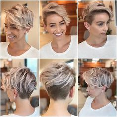Short Hair Styles For Round Faces, Hairstyles For Round Faces, Short Hairstyles For Women, Round Face Short Haircuts, Short Hair For Women, Hairstyle Short, Best Pixie Cuts, Blonde Pixie Cuts, Blonde Pixie Haircut