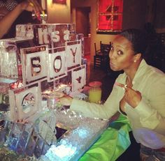 Ice Sculpture at the baby shower...gtfoh