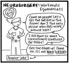 Medical Specialty Stereotype #8: Neurosurgery : Workaholic Egomaniacs