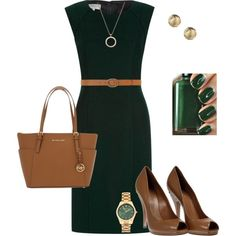"""""""Hobbs Elysia dress"""" by anukit on Polyvore Not a fan of the green nail-polish, though. :)"""