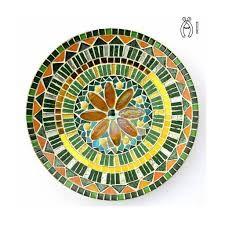 Image associée Mosaic Birdbath, Mosaic Art, Decorative Plates, Crafty, Flowers, Mosaic Ideas, Home Decor, Table, Image