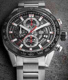 TAG Heuer Debuts New Carrera Chronograph Mens Designer Watches, Luxury Watches For Men, Tag Heuer Automatic, Tag Heuer Monaco, Tag Heuer Professional, Custom Design Shoes, Mens Watches Leather, Watch Companies, Mens Style Guide