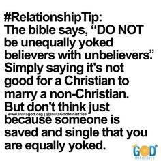 What does being equally yoked mean