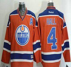 Edmonton Oilers Jersey 4 Taylor Hall 2015 Orange Jerseys
