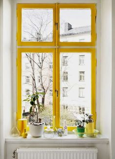 INSPIRATION DAY: Un toque amarillo. Ventanas con color. ©Idha Lindhag