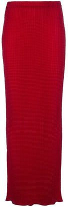 Issey Miyake - Vintage Pleated Maxi Skirt #15Things #fashion #style #trending #pleated #skirt #IsseyMiyake #maxi #red