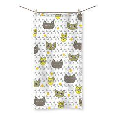 Catsy Beach Towel