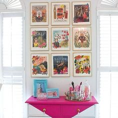 """So excited to see Bella's """"Travel the World"""" calendar wall on @betterhomesandgardens site this morning on #bhgstylespotters. Can't wait to show it to her when she gets out of school! Thank you BHG and @luluthebaker . #bhgstyle #bhgcolor #diy #riflepaperco"""