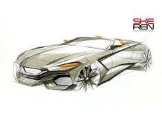 BMW Z4 Concept sketching demo