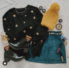 Retro Outfits, Mode Outfits, Cute Casual Outfits, Fall Outfits, Vintage Outfits, Grunge Outfits, Cute Fashion, Teen Fashion, Fashion Outfits