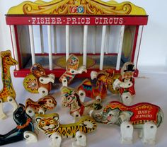Awesome Vintage Fisher Price Wooden Circus Wagon. 1960's