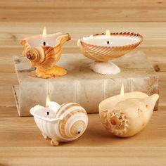 Sea shells decoration ideas - Little Piece Of Me candles with seashells Seashell Candles, Seashell Art, Seashell Crafts, Crafts With Seashells, Homemade Candles, Diy Candles, Ideas Candles, Deco Marine, Seashell Projects