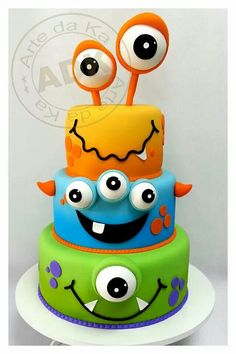 Aiden's Monster bday  cake