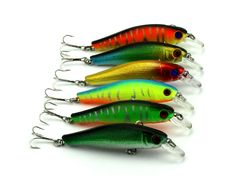 6 Colors Minnow Lure 8.5CM-8.9G-6# Hooks Fishing lures artificial tackle pesca fishing wobblers crank bait