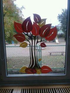 Class Decoration, School Decorations, Autumn Decorating, Fall Decor, Diy And Crafts, Crafts For Kids, Kindergarten Design, Autumn Crafts, Window Art