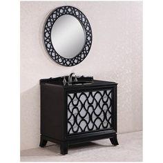 "38"" Traditional Single Sink Bathroom Vanity"