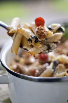 Baked Caprese Pasta by heatherlikesfood #Casserole #Pasta