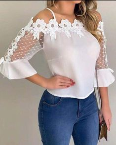 Flawless Summer Outfits Ideas For Slim Women That Looks Cool - Oscilling Trend Fashion, 90s Fashion, Fashion Outfits, Fashion Shoot, Casual Tops For Women, Blouses For Women, Mens Workout Shirts, Workout Tops For Women, Pattern Fashion