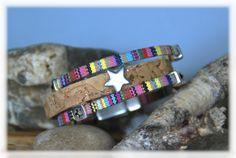Armbänder - Armband mit Kork und Sternen - ein Designerstück von DaiSign bei DaWanda