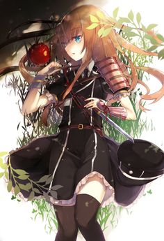 Pixiv Id 613685, Touken Ranbu, Midare Toushirou, Hat Off, Looking Ahead, Apple