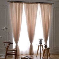 Cheap curtain styles, Buy Quality curtain line directly from China curtain width Suppliers: 	Elegant Solid Yarn Sheer Curtains For Bedroom Flat Window Fabric Tulle Rideaux Pour Le Salon Size Customised 	  	T